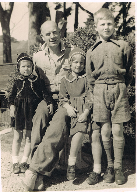 Allan Richardson with his three children