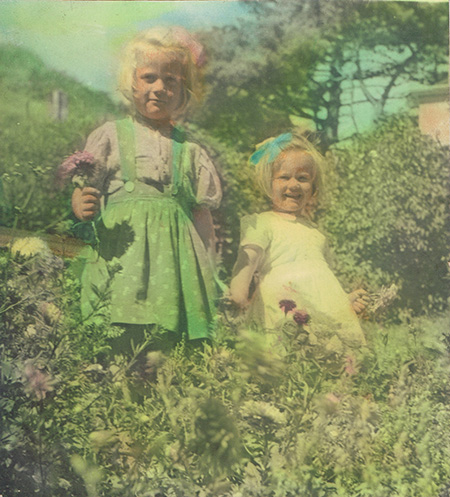 Catherine and Frances in the Halfway House garden as little girls