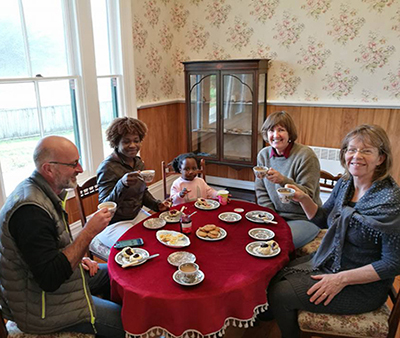 Afternoon tea in the historic Halfway House