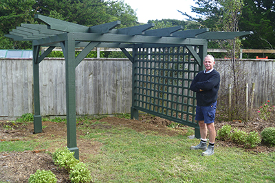 rose arbour, constructed by Graeme Henderson, builder