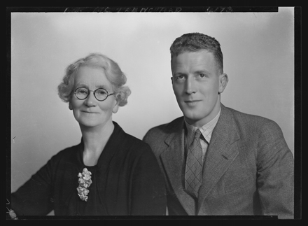 Horace Trenchard and his mother Mary Celia Trenchard