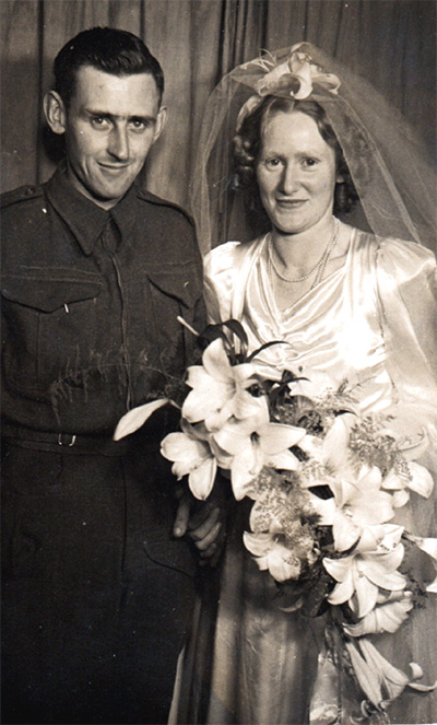 Marriage of Alfred Roland Broderick to Louisa Mary Edgar , 1942